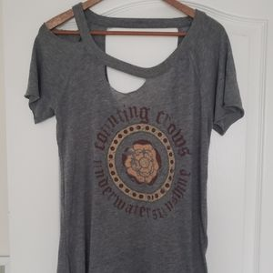 Chaser distressed Counting Crows tshirt top M